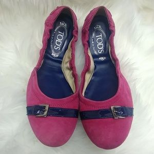 Todd's suede ballet flats size 38